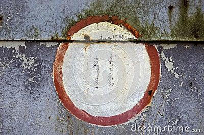 Retro garage door tin background
