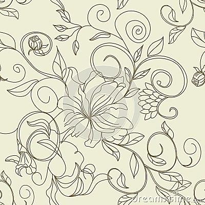 Retro gestileerd naadloos patroon