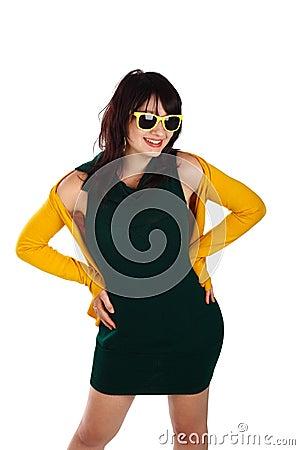 Retro girl posing