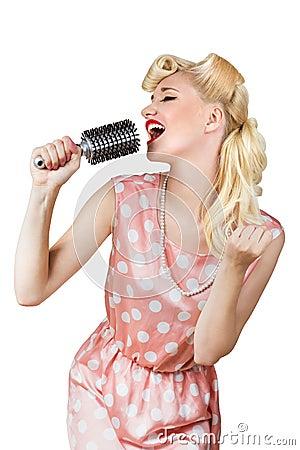 Free Retro Girl Singer Royalty Free Stock Image - 33344806