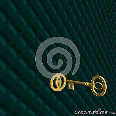 Retro golden key