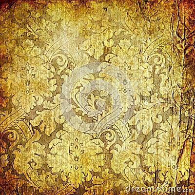 retro golden wallpaper royalty free stock image image. Black Bedroom Furniture Sets. Home Design Ideas