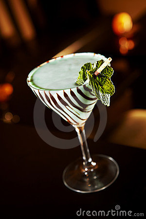 Retro Grasshopper Martini