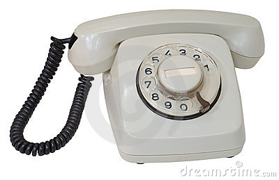 Retro gray dial telephone