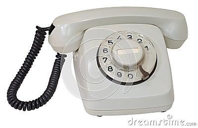 Retro gray dial telephone