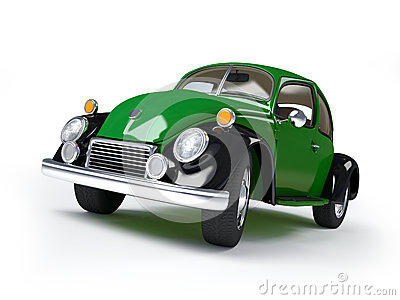 Retro green car