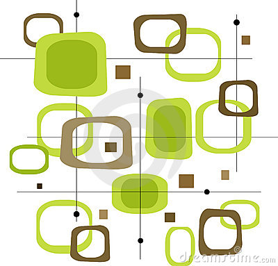 Free Retro Green Squares (Vector) Stock Image - 2564831