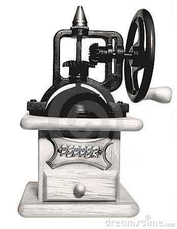 Retro grinderpeppar