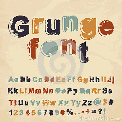 Retro grunge font