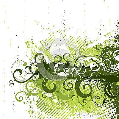 Retro grunge in green
