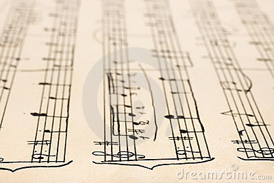 Retro handwritten sheet music