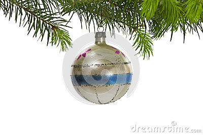 Retro Hanging Christmas Tree Ornament