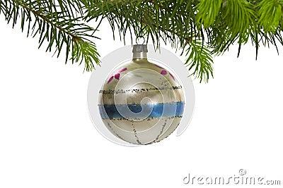 Retro Hanging Christmas Tree Ornament