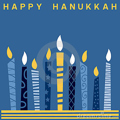 Retro Happy Hanukkah Card [2]
