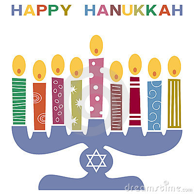 Retro Happy Hanukkah Card [3]