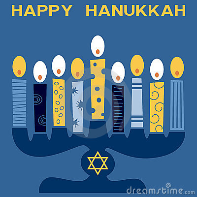 Retro Happy Hanukkah Card [4]