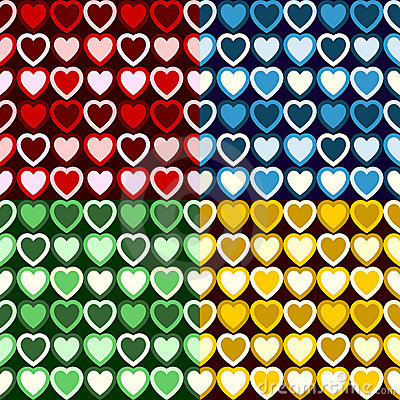 Retro Heart Pattern