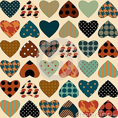 Retro hearts pattern
