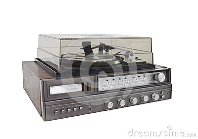 Retro Hi-Fi Stereo Isolated with Clipping Path