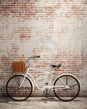 Free Retro Hipster Bicycle In Front Of The Old Brick Wall, Background Royalty Free Stock Images - 47700939