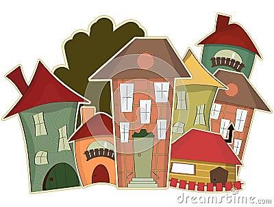 Retro houses
