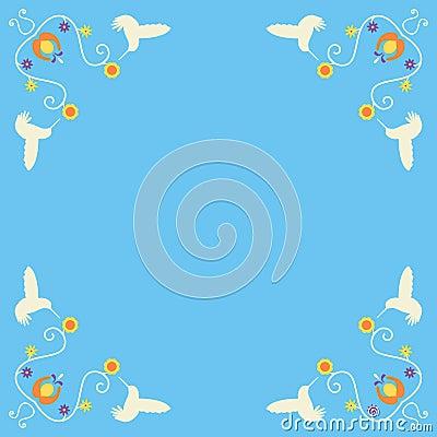 Retro Hummingbird Corners