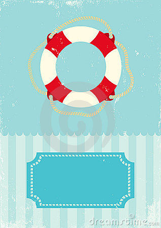 Free Retro Illustration Of Life Buoy Stock Images - 20970554