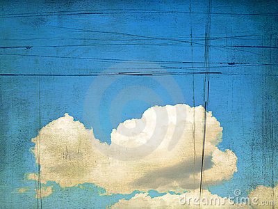 Retro image of cloudy sky. Background