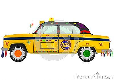 Retro Indian taxi