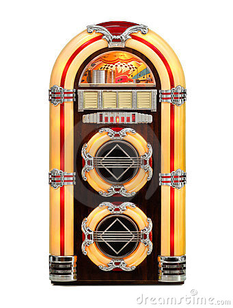 Retro Jukebox isolated