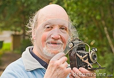 Retro kamera profesor