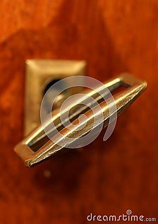 Retro key in keyhole