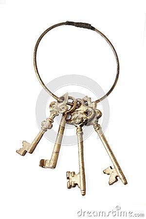 Free Retro Keys Isolated On White Royalty Free Stock Photography - 12722127