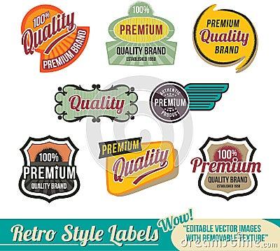 Retro label Banner set