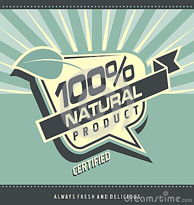 Free Retro Label For Organic Food Stock Photo - 32260170