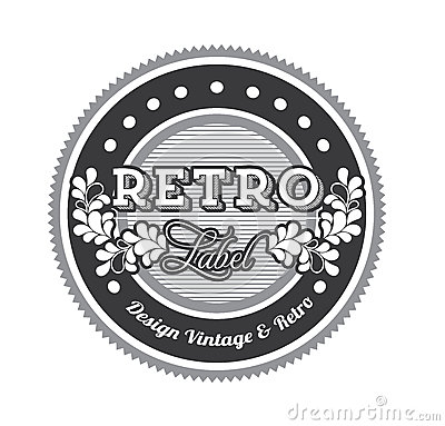 Retro label
