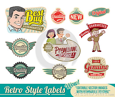 Retro label Set