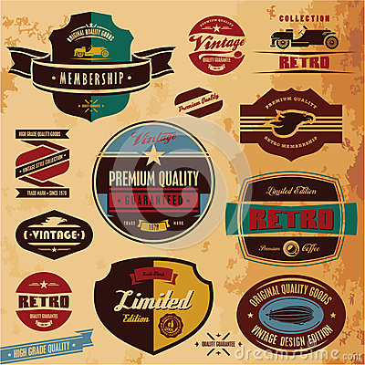 Free Retro Labels And Badges Royalty Free Stock Photo - 25991785
