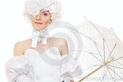 Retro lady bride, magic halloween carnival costume