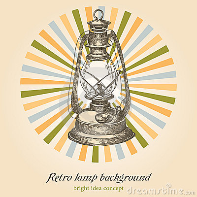 Retro lamp background
