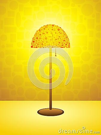 Retro lamp background