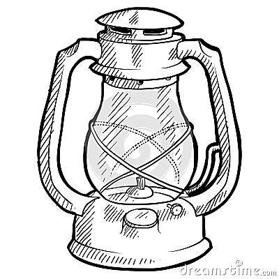 Retro lantern sketch