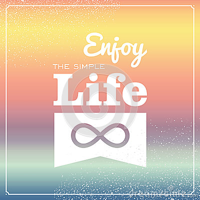 Retro life style poster