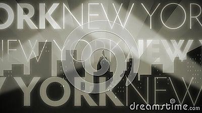 Retro Lijn van New York Noir stock video