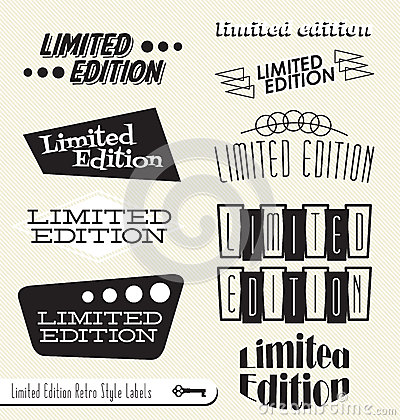 Retro Limited Edition Labels and Stickers