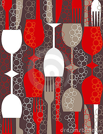 Retro lunch - seamless pattern