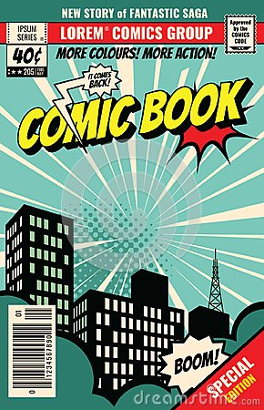 Retro magazine cover. Vintage comic book vector template Vector Illustration
