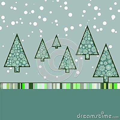 Retro Malplaatje van de Kerstkaart. EPS 8