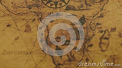 Retro mapa Afryka kontynenty zbiory