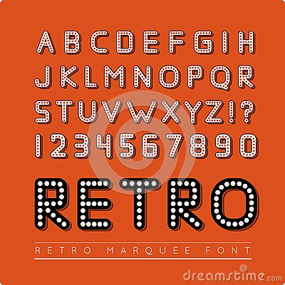 Retro Marquee Font Stock Vector - Image: 47772952